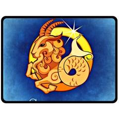 Zodiac Capricorn Double Sided Fleece Blanket (Large)
