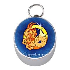 Zodiac Capricorn Mini Silver Compasses