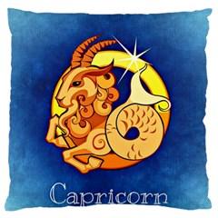 Zodiac Capricorn Large Flano Cushion Case (One Side)