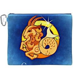 Zodiac Capricorn Canvas Cosmetic Bag (XXXL)