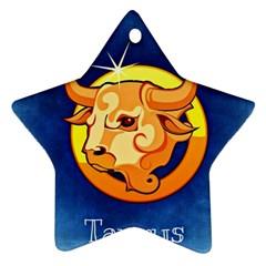 Zodiac Taurus Ornament (Star)