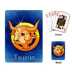 Zodiac Taurus Playing Card