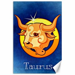 Zodiac Taurus Canvas 24  x 36