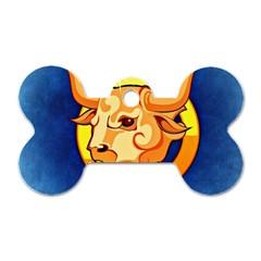 Zodiac Taurus Dog Tag Bone (Two Sides)