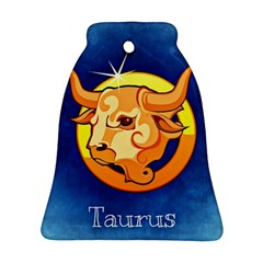 Zodiac Taurus Bell Ornament (Two Sides)