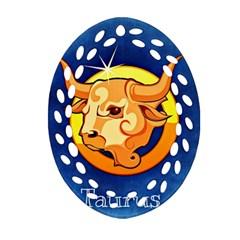 Zodiac Taurus Ornament (Oval Filigree)