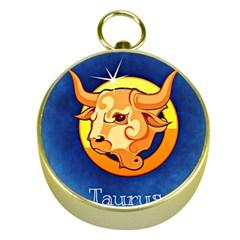 Zodiac Taurus Gold Compasses