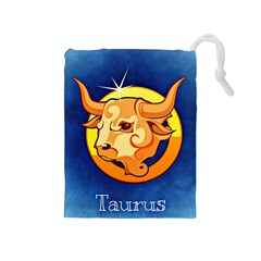 Zodiac Taurus Drawstring Pouches (Medium)