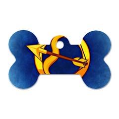 Zodiac Sagittarius Dog Tag Bone (One Side)