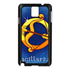 Zodiac Sagittarius Samsung Galaxy Note 3 N9005 Case (Black)