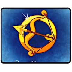 Zodiac Sagittarius Double Sided Fleece Blanket (Medium)