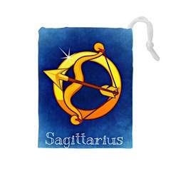 Zodiac Sagittarius Drawstring Pouches (Large)