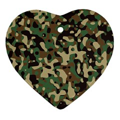 Army Camouflage Ornament (Heart)