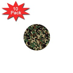 Army Camouflage 1  Mini Buttons (10 pack)