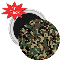 Army Camouflage 2.25  Magnets (10 pack)