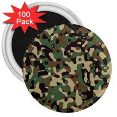 Army Camouflage 3  Magnets (100 pack)