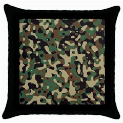 Army Camouflage Throw Pillow Case (Black)