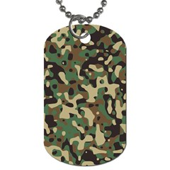 Army Camouflage Dog Tag (One Side)
