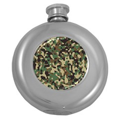 Army Camouflage Round Hip Flask (5 oz)