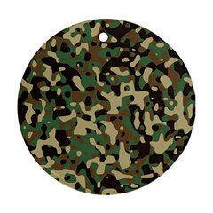 Army Camouflage Round Ornament (Two Sides)