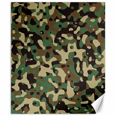 Army Camouflage Canvas 8  x 10