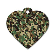 Army Camouflage Dog Tag Heart (Two Sides)