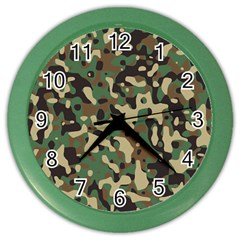 Army Camouflage Color Wall Clocks