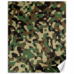 Army Camouflage Canvas 11  x 14