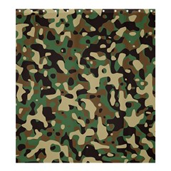 Army Camouflage Shower Curtain 66  x 72  (Large)