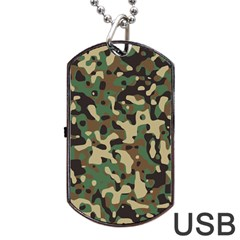 Army Camouflage Dog Tag USB Flash (Two Sides)