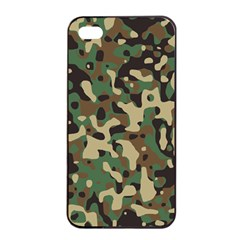 Army Camouflage Apple iPhone 4/4s Seamless Case (Black)