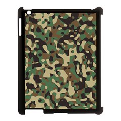 Army Camouflage Apple iPad 3/4 Case (Black)