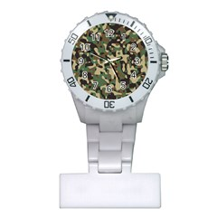 Army Camouflage Plastic Nurses Watch