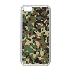 Army Camouflage Apple iPhone 5C Seamless Case (White)