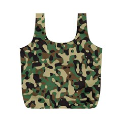 Army Camouflage Full Print Recycle Bags (M)