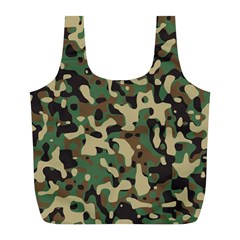 Army Camouflage Full Print Recycle Bags (L)
