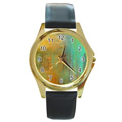 The WaterFall Round Gold Metal Watch