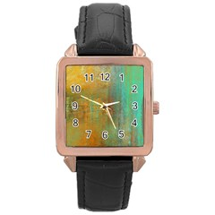The WaterFall Rose Gold Leather Watch