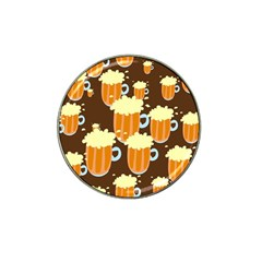 A Fun Cartoon Frothy Beer Tiling Pattern Hat Clip Ball Marker (4 pack)