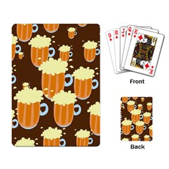 A Fun Cartoon Frothy Beer Tiling Pattern Playing Card
