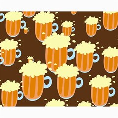 A Fun Cartoon Frothy Beer Tiling Pattern Canvas 16  x 20