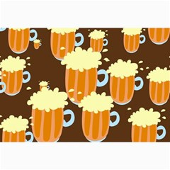 A Fun Cartoon Frothy Beer Tiling Pattern Canvas 24  x 36