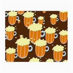 A Fun Cartoon Frothy Beer Tiling Pattern Small Glasses Cloth (2 Side)