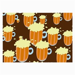A Fun Cartoon Frothy Beer Tiling Pattern Large Glasses Cloth