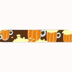 A Fun Cartoon Frothy Beer Tiling Pattern Small Bar Mats