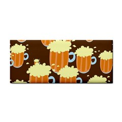 A Fun Cartoon Frothy Beer Tiling Pattern Cosmetic Storage Cases