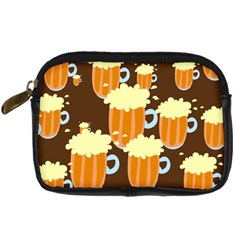 A Fun Cartoon Frothy Beer Tiling Pattern Digital Camera Cases