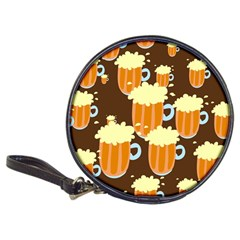 A Fun Cartoon Frothy Beer Tiling Pattern Classic 20 Cd Wallets