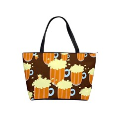 A Fun Cartoon Frothy Beer Tiling Pattern Shoulder Handbags