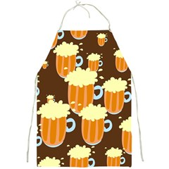A Fun Cartoon Frothy Beer Tiling Pattern Full Print Aprons